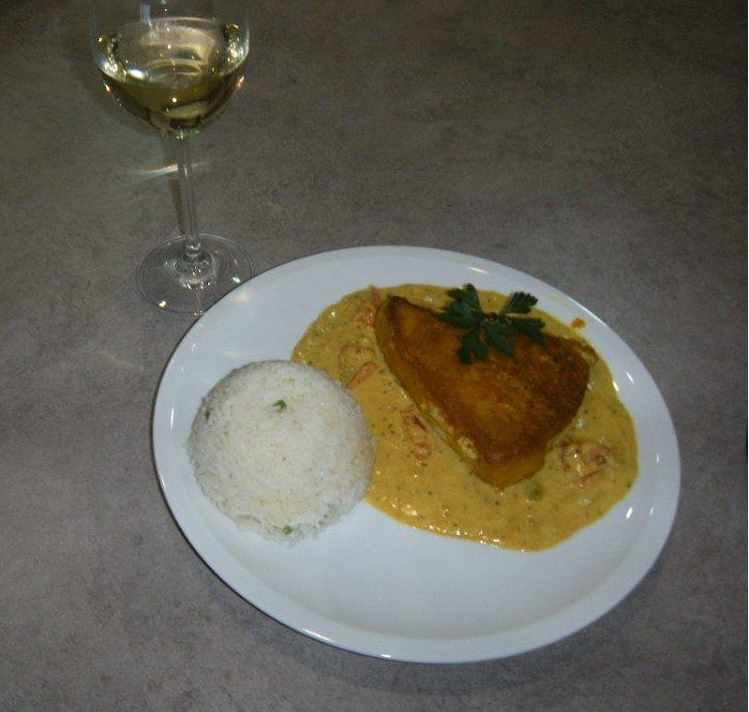 Yellow Yellowfin Tuna with Coconut Rice