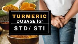 Turmeric dosage for STD STI 1