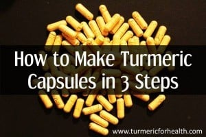 how to make turmeric capsules in 3 steps