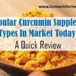 popular curcumin supplement types reviewed