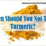 precautions associated with turmeric